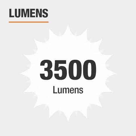This light has a brightness of 3500 lumens.