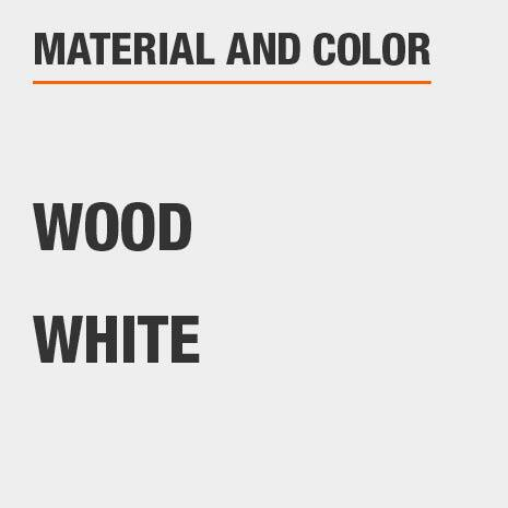 White Wood File Cabinet