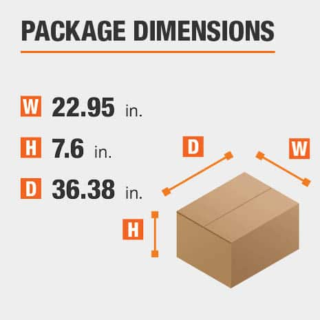 File Cabinet Package Dimensions 22.95 inches wide 36.38 inches high