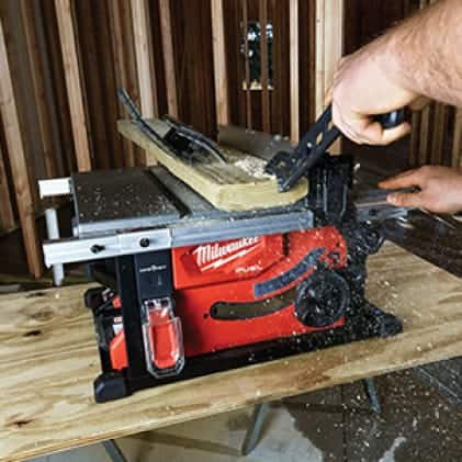 "Man cuts wood with M18 FUEL 8-1/4"" Table Saw"
