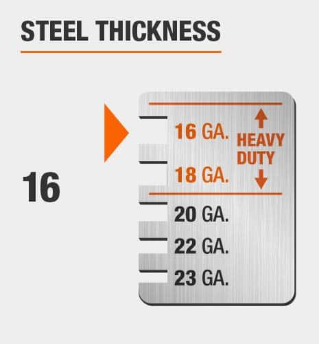 16-Gauge Steel Thickness