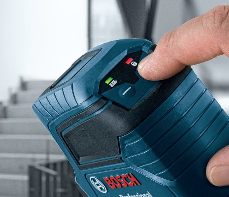 Bosch GLL 50 product close-up of various line modes.