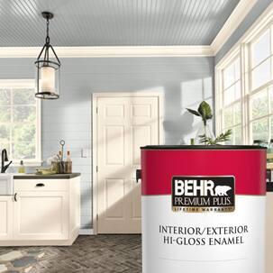 BEHR PREMIUM PLUS Interior Hi-Gloss can