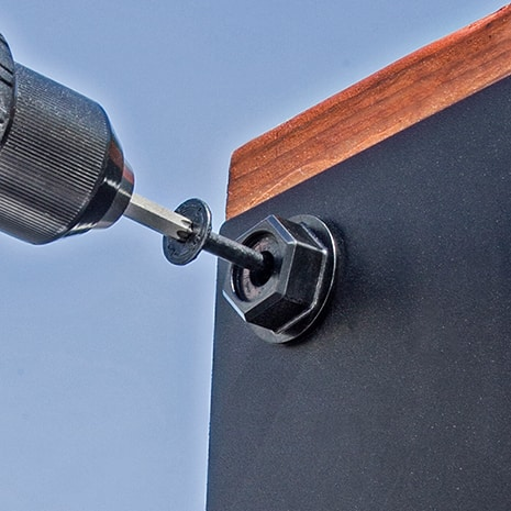 Outdoor Accents Hex-Head Washer and Screw Installed