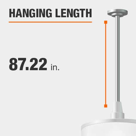 Hanging Light Fixture with Hanging Length Adjustable Up To 87.22in.