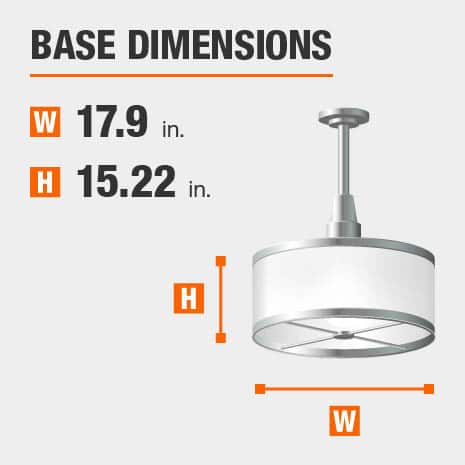 Pendant Light  with 17.9in.width and 15.22in. height