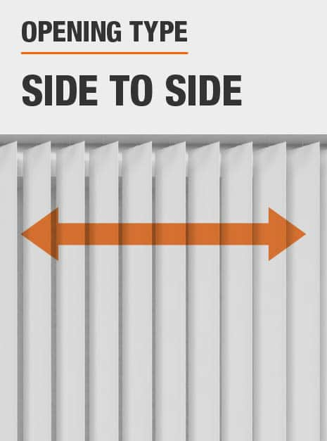 Louvers Slide From Side to Side to Cover Window