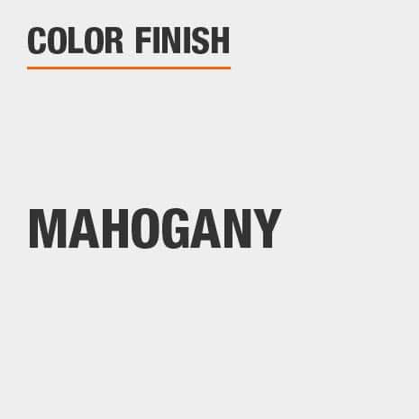 This bathroom vanity mirror color finish is Mahogany