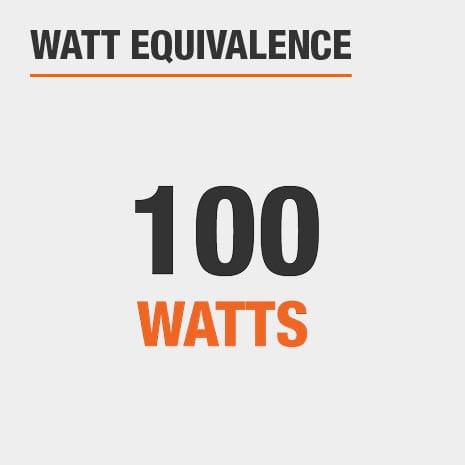 This light has a watt equivalence of 100 watts.