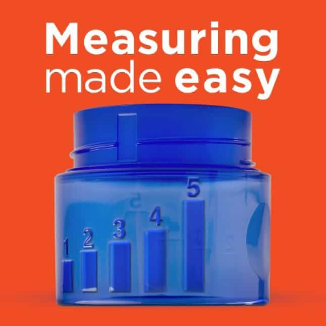 Tide liquid laundry detergent cap is measuring made easy