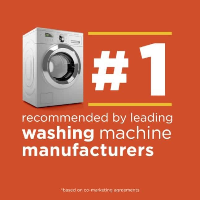 Tide is the #1 brand recommended by leading washer manufacturers *based on co-marketing agreements