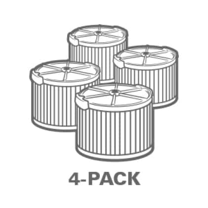 Buy more and save. Significant savings when purchasing the 4-Pack.