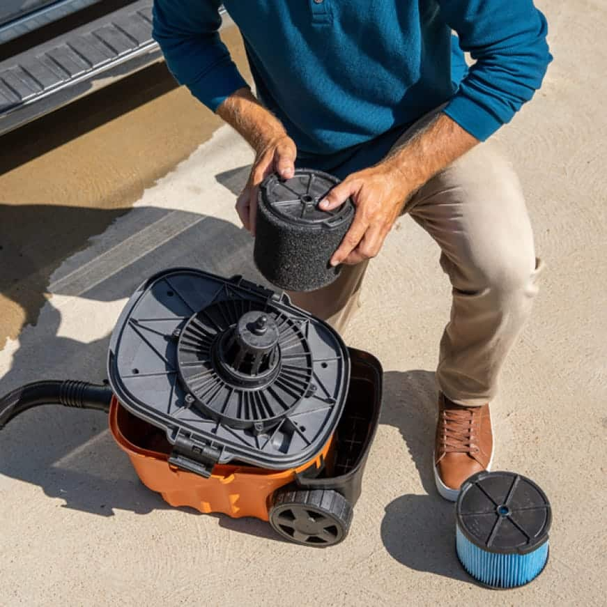 Pairing RIDGID filters and vacuums helps protect the motor from harmful debris, extending the vacuum's life.