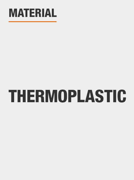 This pump is made of Thermoplastic material.