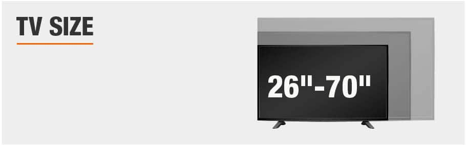 TV Size 26 to 70 Inches