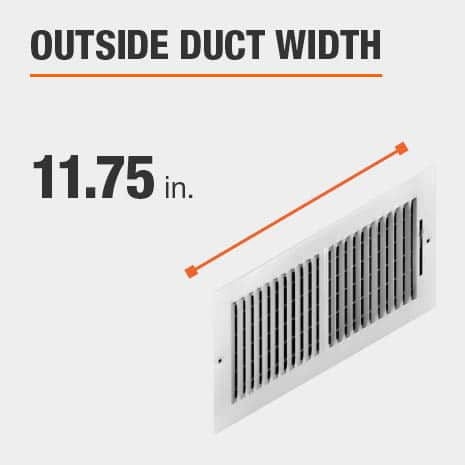 The outside duct width is 11.5 inches.