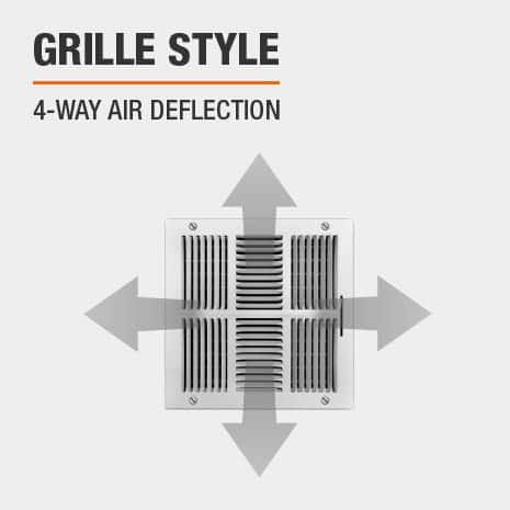 This product has a 4-Way Air Deflection style.