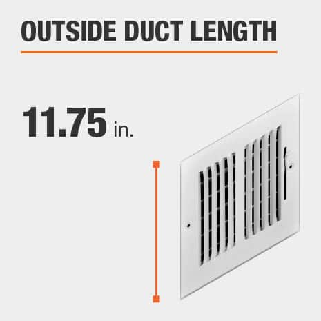 The outside duct length is 11.75 inches.