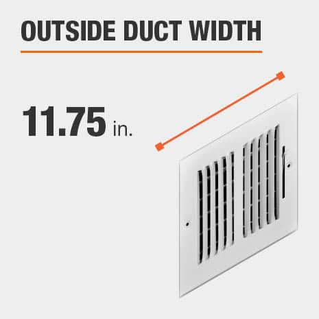 The outside duct width is 11.75 inches.