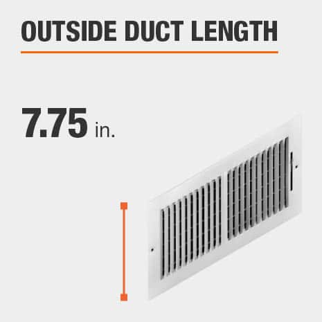 The outside duct length is 7.75 inches.