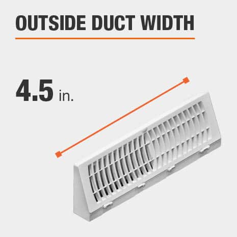 The outside duct width is 4.5 inches.