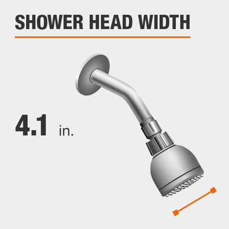 Showerhead is 4.1 Inches Wide