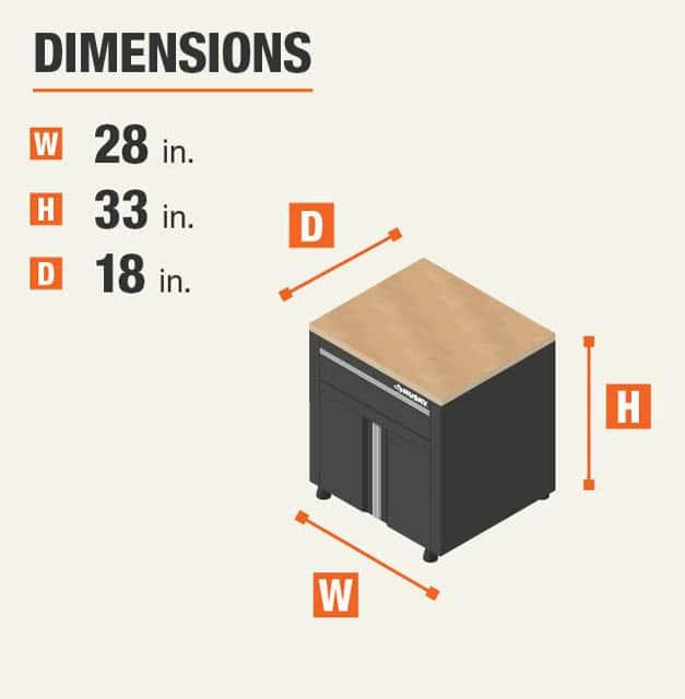 48 in. W x 53 in. H x 20 in. D Garage Workbench with Storage