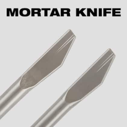 Ideal for removing mortar between bricks