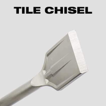 Angled head designed for prying tile