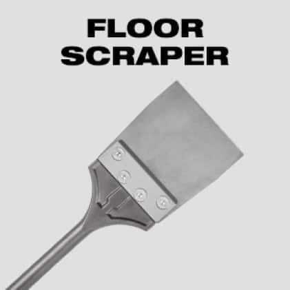 Ideal for tile, linoleum, laminate, and adhesive removal
