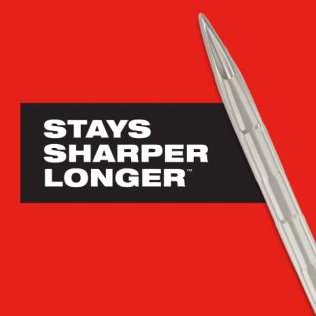 No re-sharpening or re-hardening necessary for reduced down time