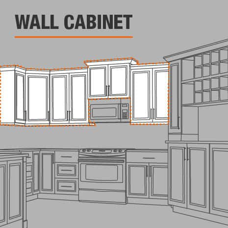 Wall cabinet that is ready to install in your kitchen, laundry room, or garage