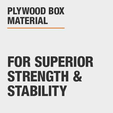 Plywood box material that provides strength and stability