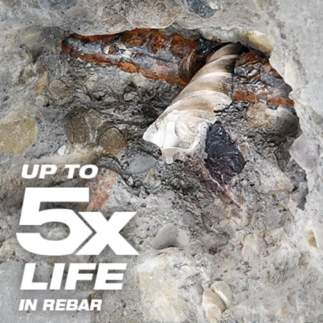 Up to 5x Longer Life in Concrete with Rebar