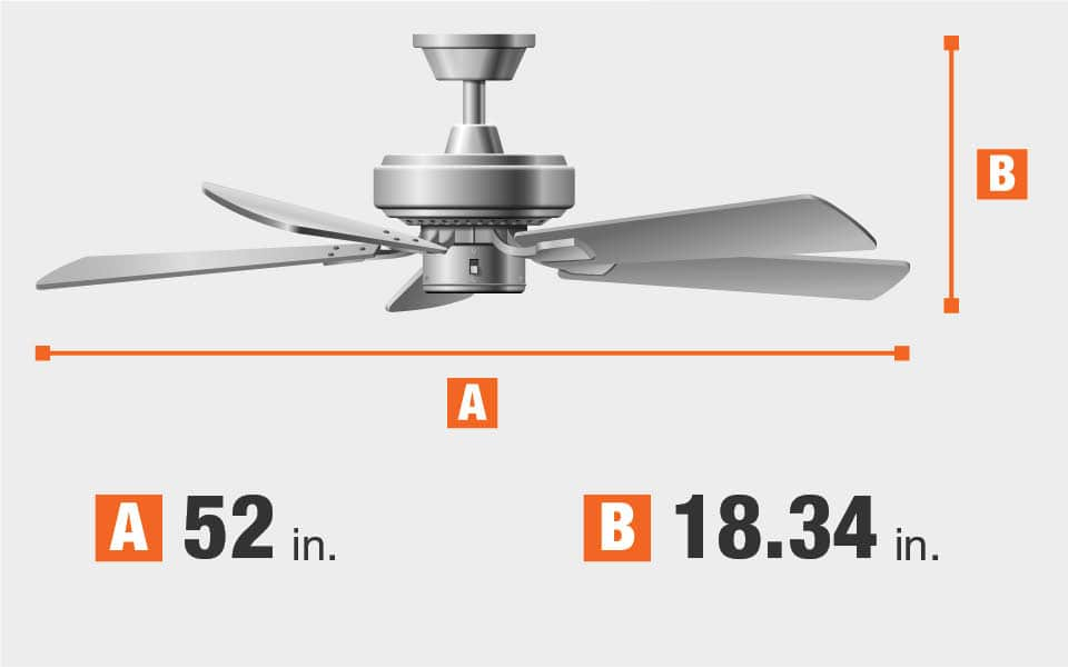 Brookhurst 52 In Led Indoor White Ceiling Fan With Light Kit Yg268 Wh The Home Depot