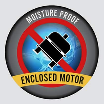 The VP-50 Motor is sealed to guard against moisture in all moist environments.