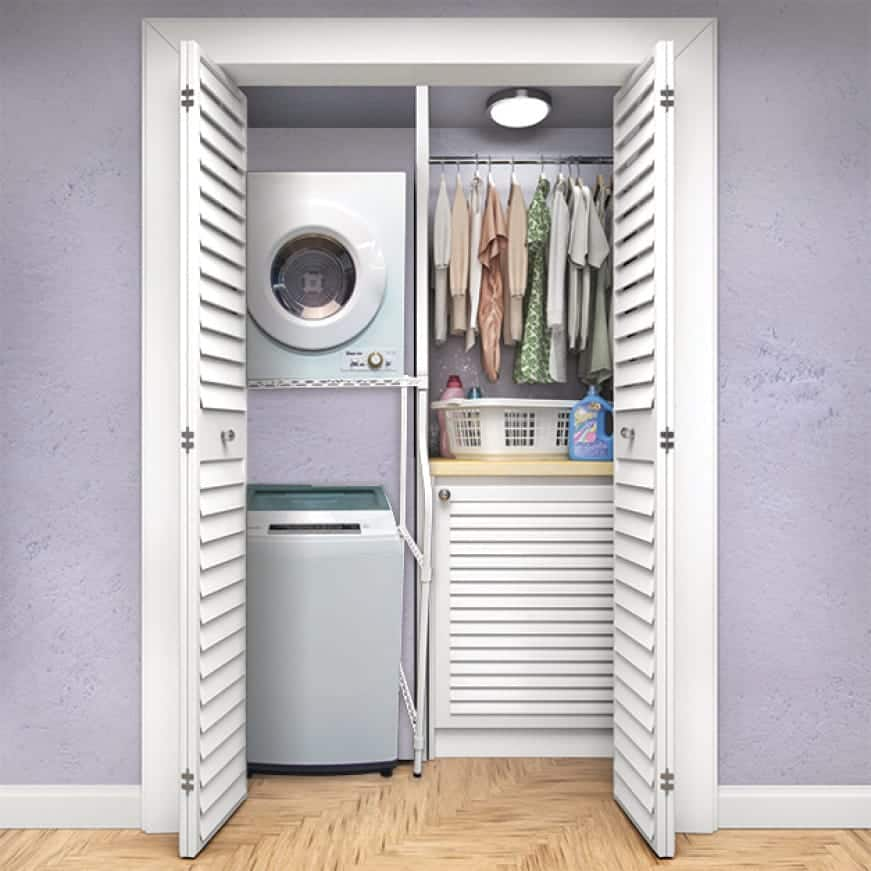 Easy to store and to move, compact washers are perfect for small laundry spaces