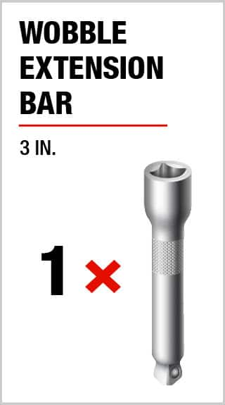 Husky 3 in. Wobble Extension bar