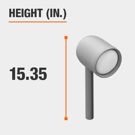 This light's height is 15.35 inches.