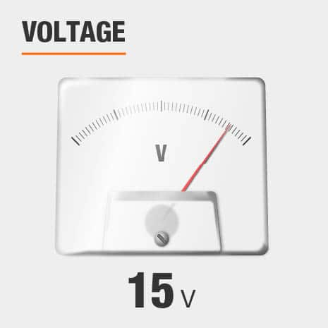 This light has a voltage of 15v.