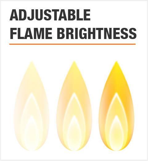 Adjustable Flame Brightness