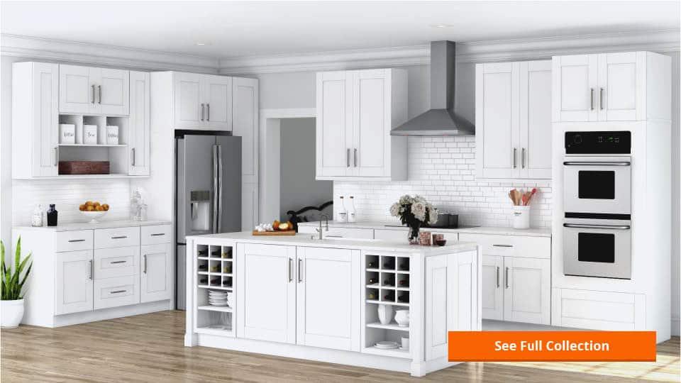 hampton wall cabinets in white