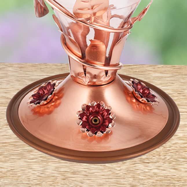 flower feeding ports, decorative glass hummingbird feeders