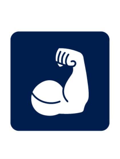 Strong arm icon