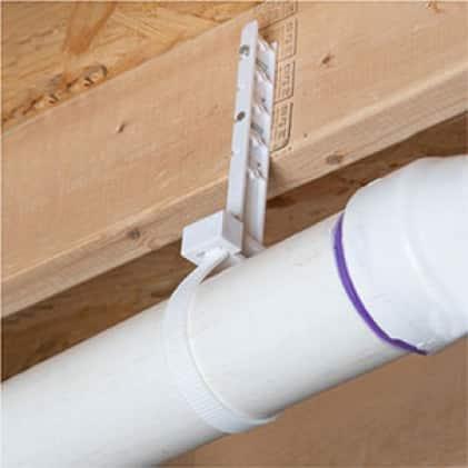 Plastic DWV pipe hanger