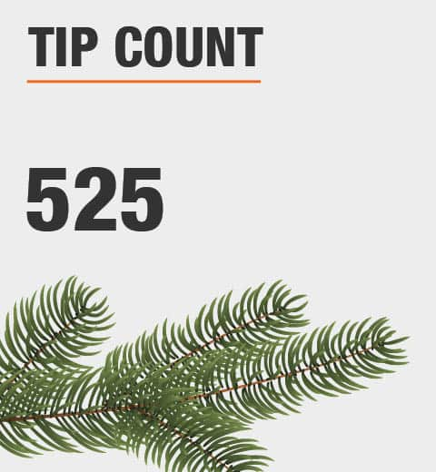 The tip count is 525