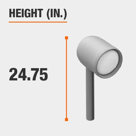 This light's height is 24.75 inches.