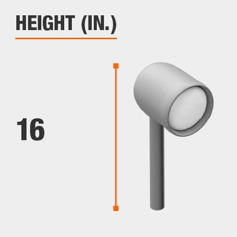 This light's height is 16 inches.