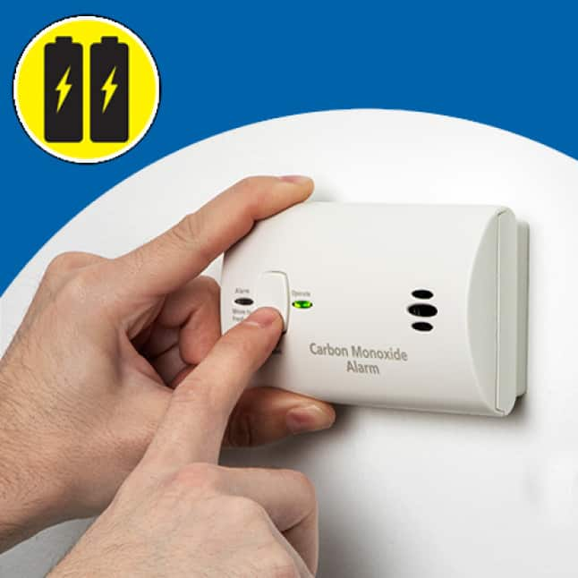 No wires, carbon monoxide alarms run only on batteries