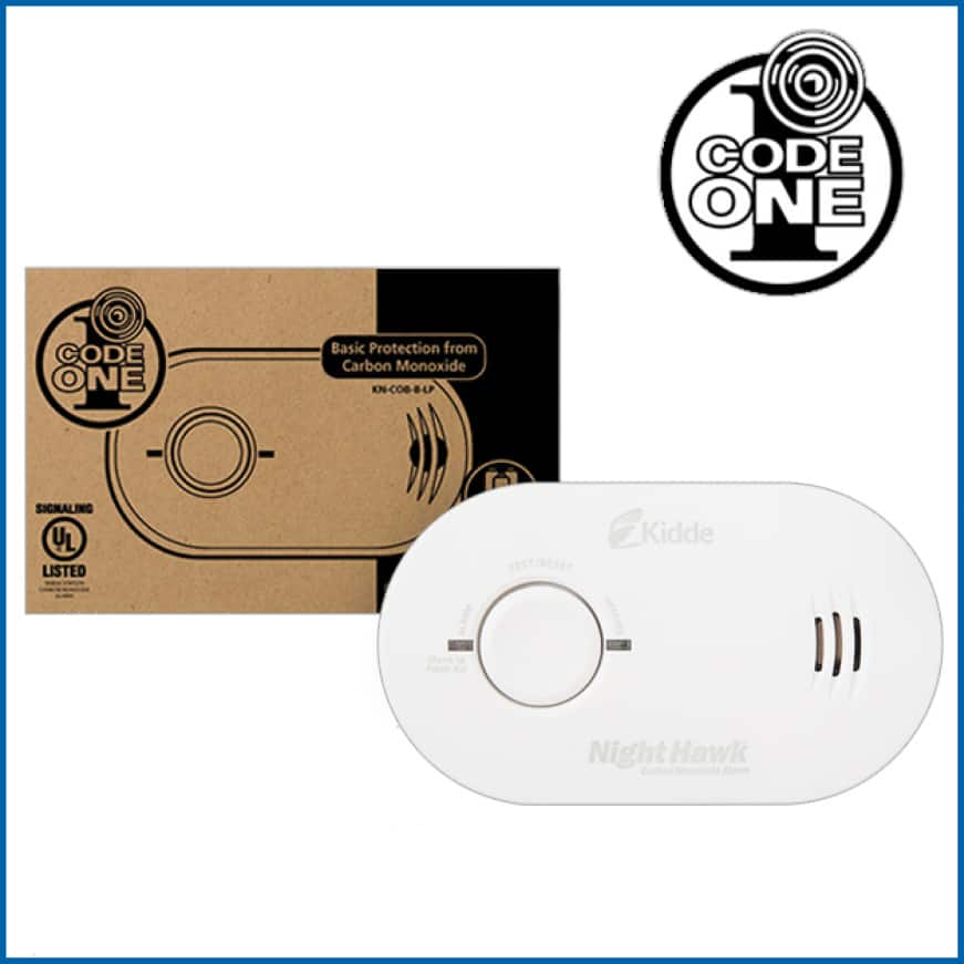 Home fire safety basics, Kidde Code One carbon monoxide alarms